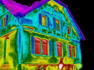 Thermografe eines Gebäudes