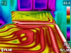 Fußbodenheizung intakt